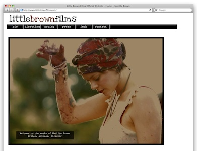 little brown films is the website of matilda brown, built in html