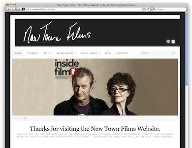 new town films is the website designed for actors brian brown and rachel ward made with wordpress