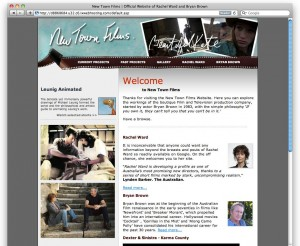 The Old New Town FIlms Website for Bryan Brown and Rachel Ward