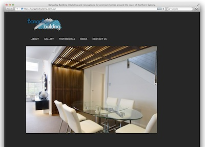 web design for greg lofhjelm, sydney builder made using wordpress