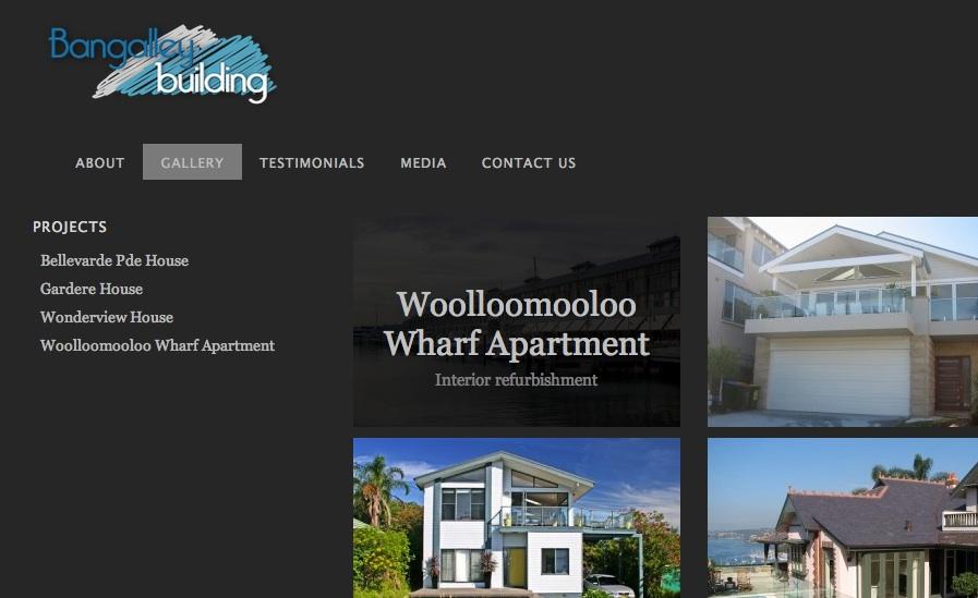 website design for building / construction site by yotike web design