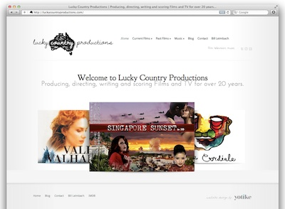 lucky country productions is Sydney producer and director Bill Leimbach made with wordpress and elegant themes layout